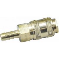 """Быстросъёмное соединение с клапаном """"ёлочка"""" 8 мм. латунь"""